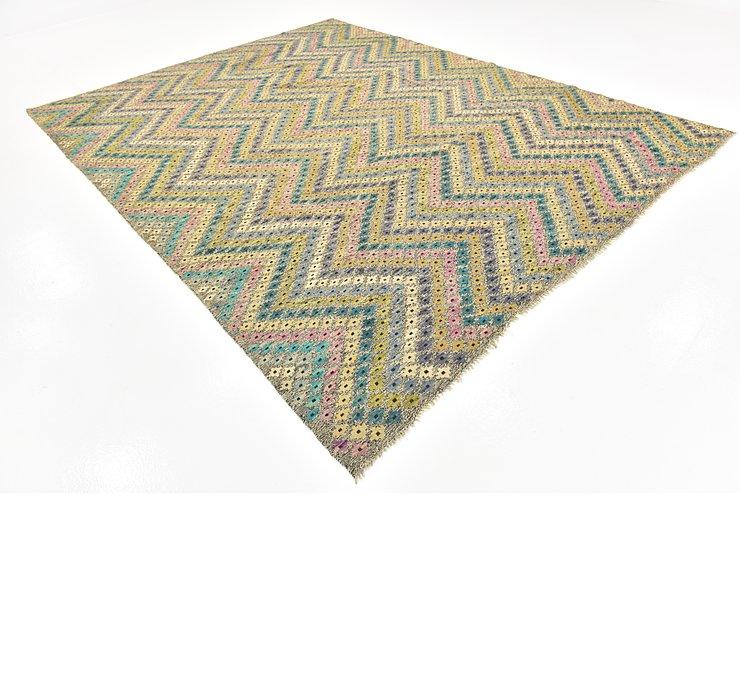 9' x 11' 6 Kilim Modern Rug
