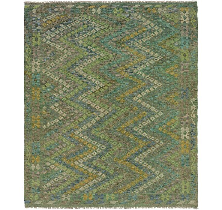 7' 2 x 8' 3 Kilim Maymana Square Rug