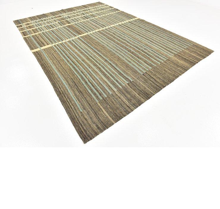 8' x 11' 8 Kilim Modern Rug