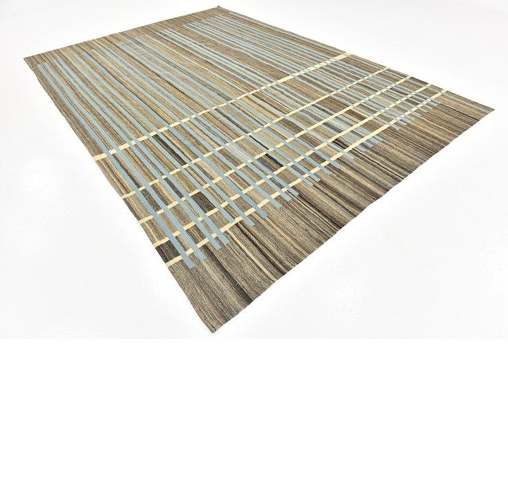 8' x 11' 10 Kilim Modern Rug