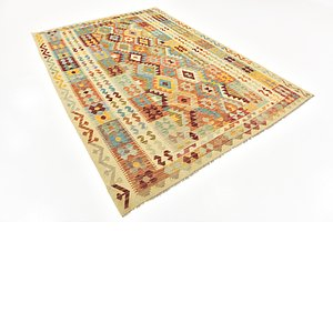 Unique Loom 6' 8 x 9' 9 Kilim Maymana Rug