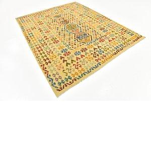 Unique Loom 6' 9 x 8' 5 Kilim Maymana Rug