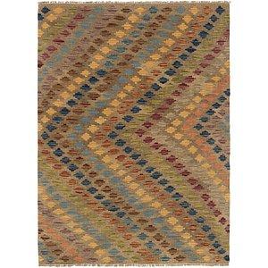 Unique Loom 3' 4 x 4' 9 Kilim Maymana Rug