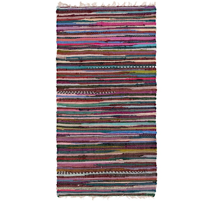 70cm x 140cm Chindi Cotton Rug