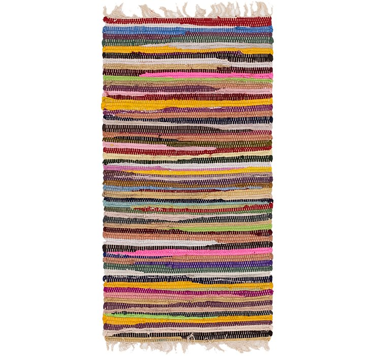 1' 9 x 3' 5 Chindi Cotton Rug