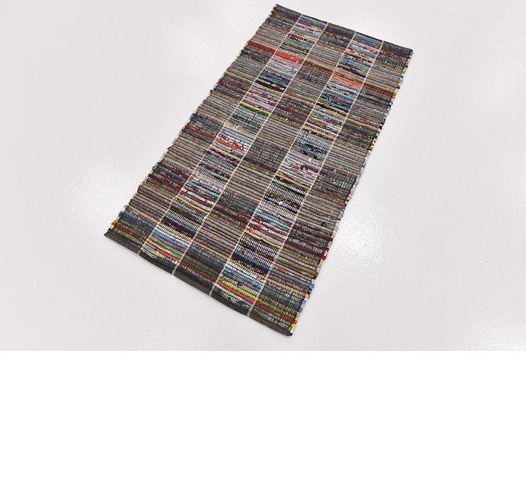 2' 4 x 4' 6 Chindi Cotton Rug