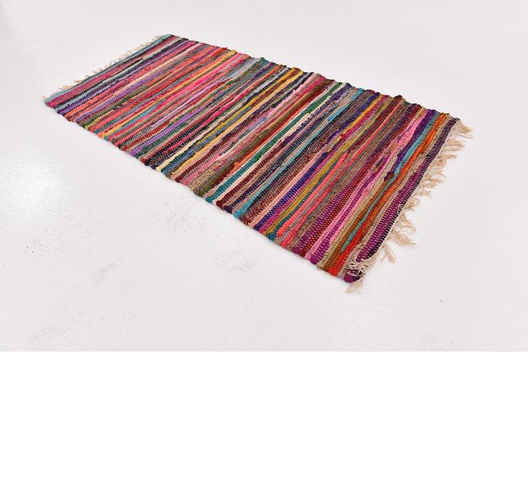 2' 5 x 4' 8 Chindi Cotton Rug