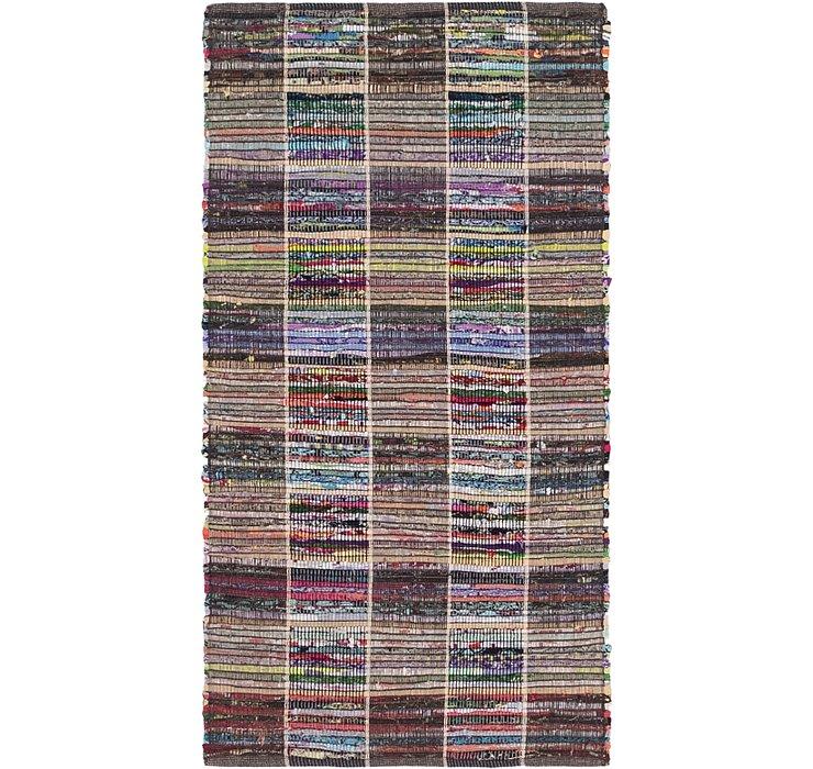70cm x 137cm Chindi Cotton Rug