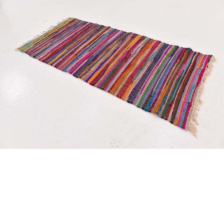 2' 3 x 4' 8 Chindi Cotton Rug