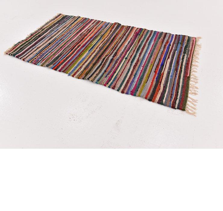 2' 5 x 4' 6 Chindi Cotton Rug