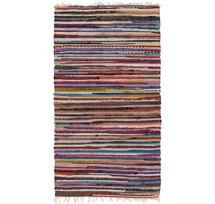 2' 5 x 4' 6 Chindi Cotton Rug