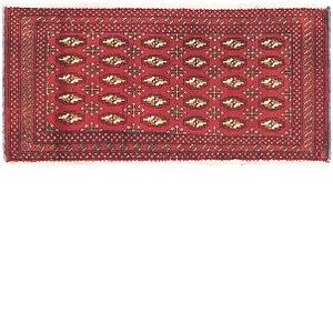HandKnotted 1' 8 x 3' 7 Torkaman Persian Rug