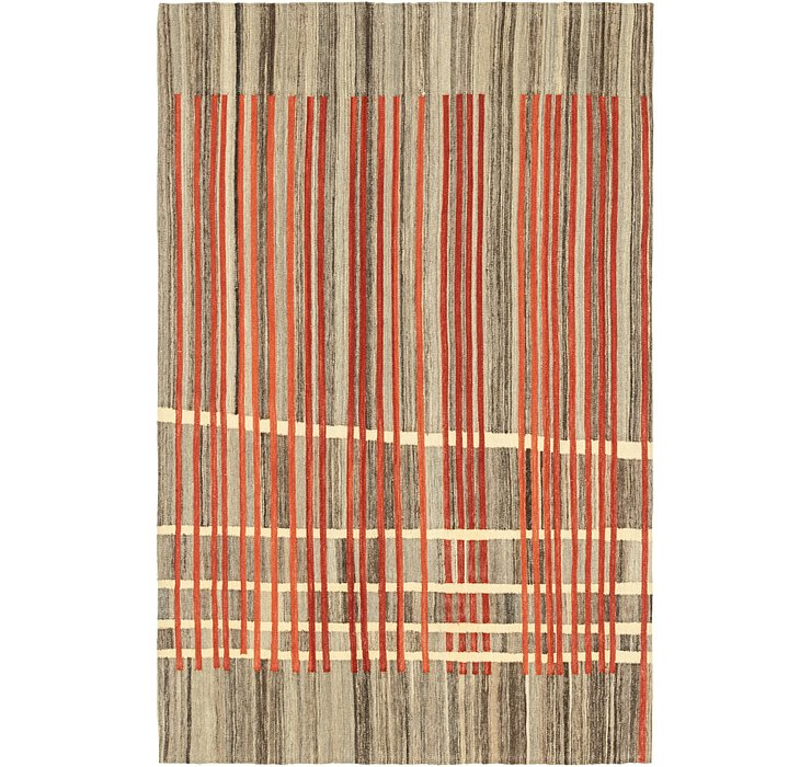 5' 6 x 8' 5 Kilim Modern Rug