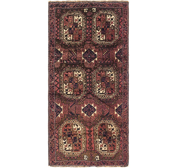 3' 10 x 7' 10 Shiraz Persian Runner Rug