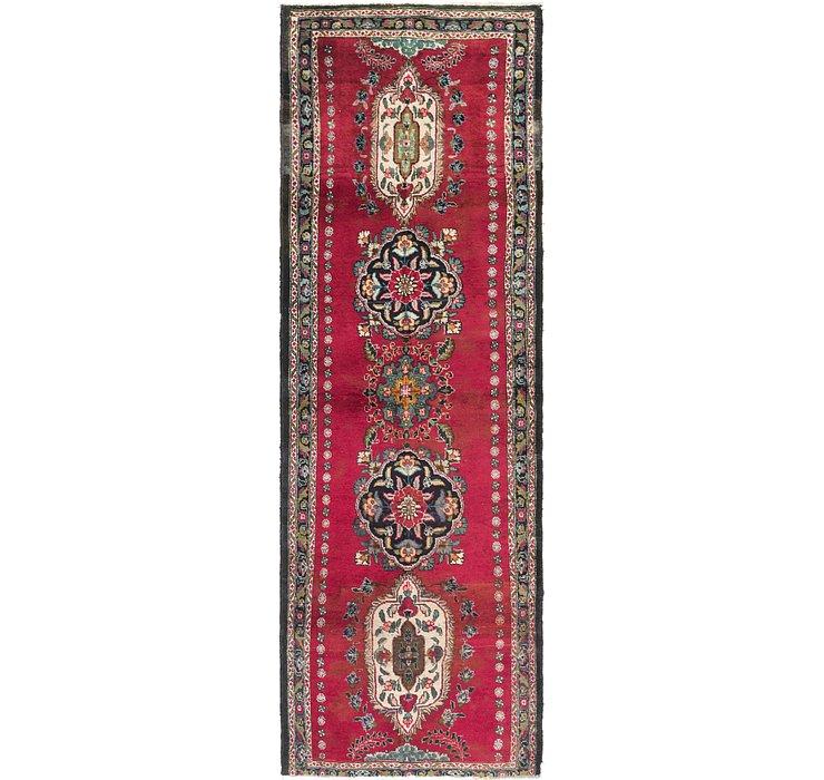 3' 7 x 11' Tabriz Persian Runner Rug