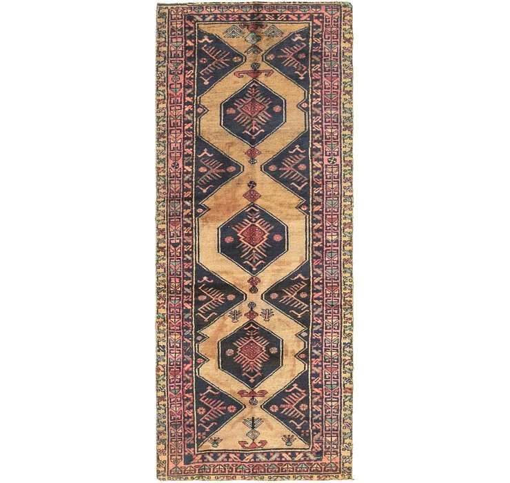 3' 5 x 9' Gholtogh Persian Runner...