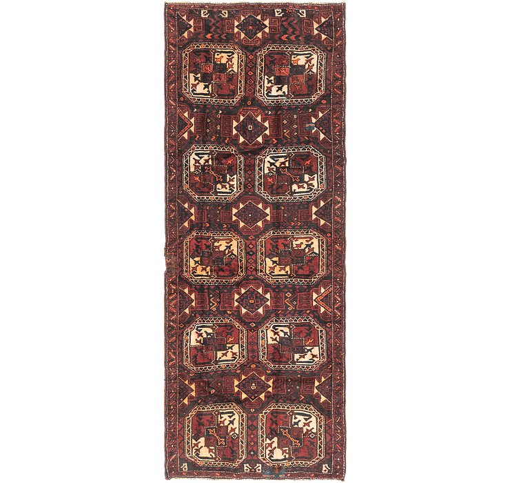 4' 5 x 12' 3 Shiraz Persian Runner Rug