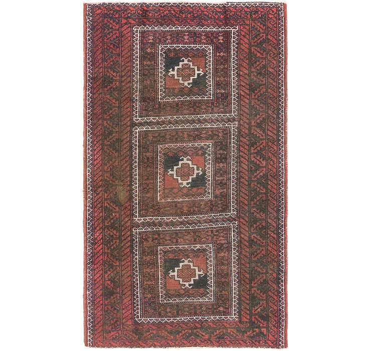 4' 2 x 7' 3 Balouch Persian Rug