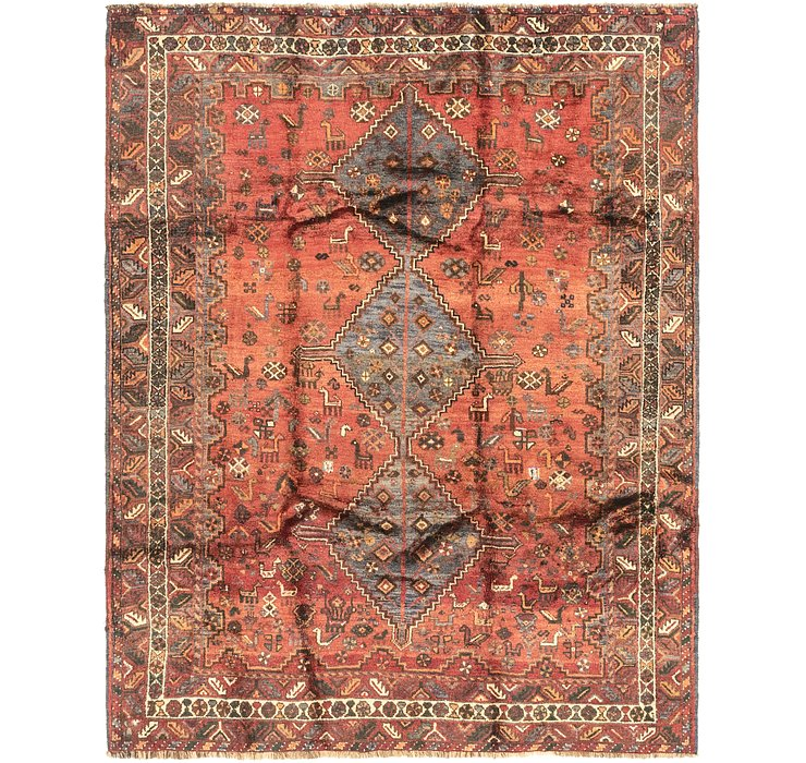 5' 7 x 7' 3 Ghashghaei Persian Rug