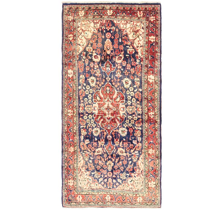4' 3 x 8' 9 Nahavand Persian Rug