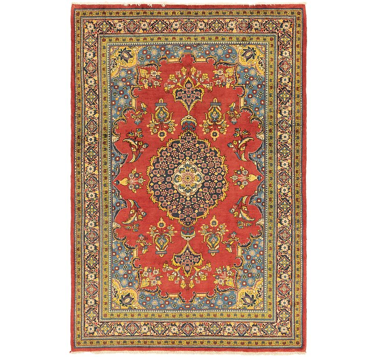7' 2 x 10' 9 Golpayegan Persian Rug