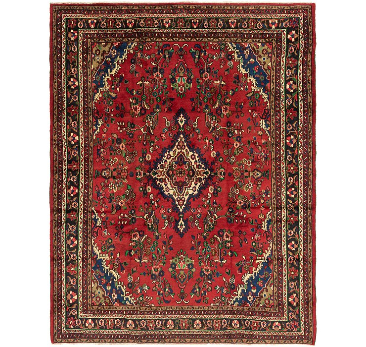9' x 11' 8 Hamedan Persian Rug