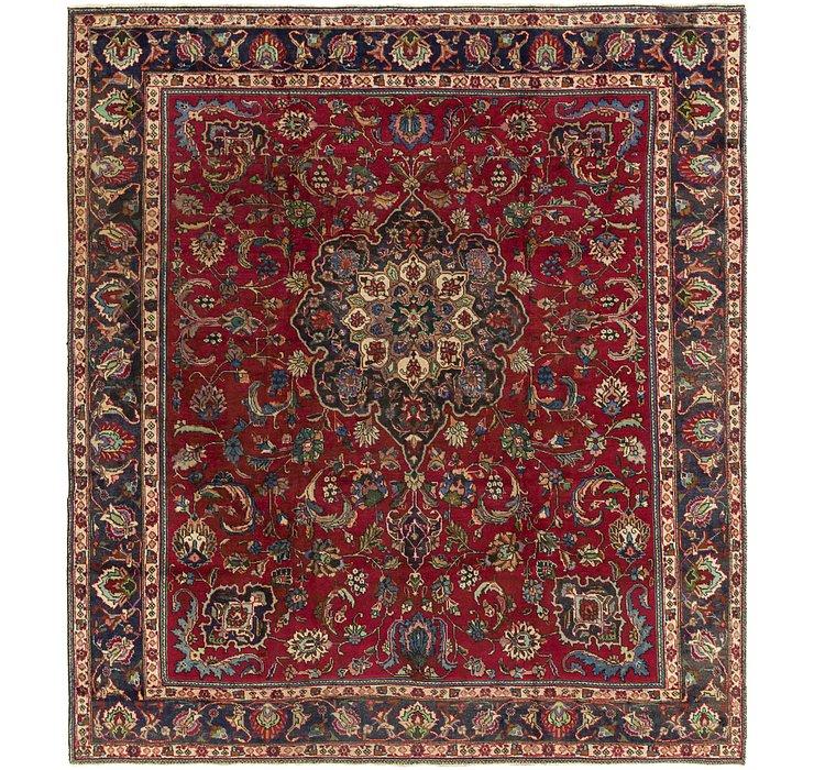 9' 10 x 11' 3 Tabriz Persian Square Rug