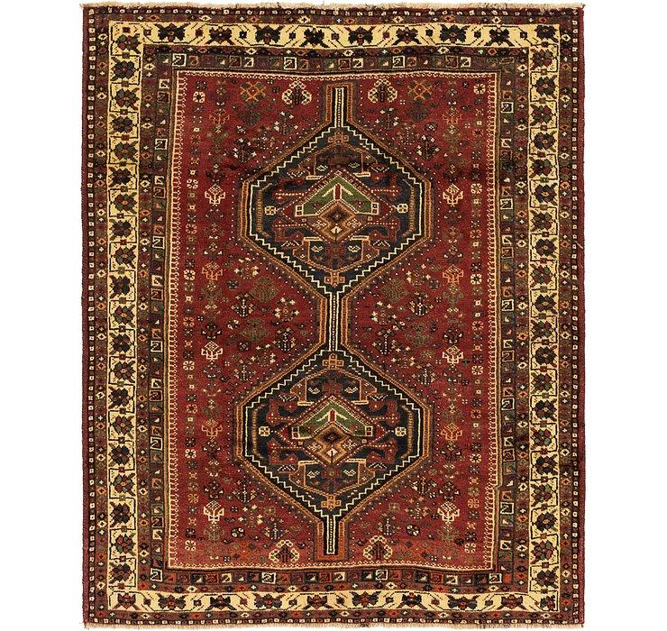 5' 5 x 7' Ghashghaei Persian Rug