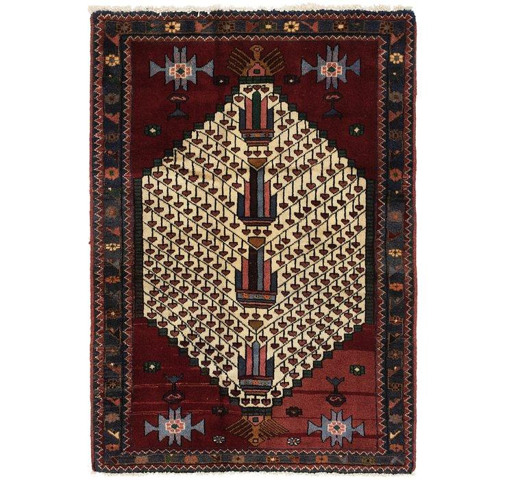 3' 3 x 4' 9 Hamedan Persian Rug