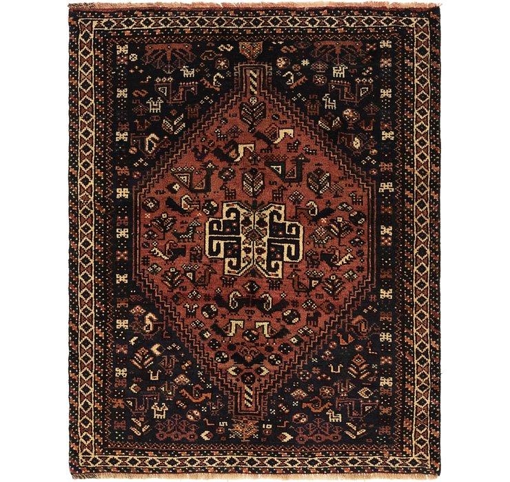 112cm x 145cm Ghashghaei Persian Rug