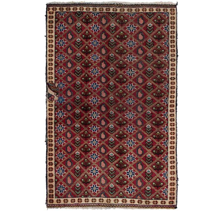 3' x 4' 8 Tabriz Persian Rug
