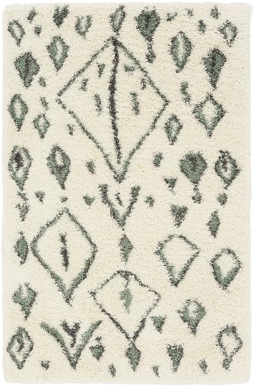 Ivory  5' x 8' Marrakesh Shag