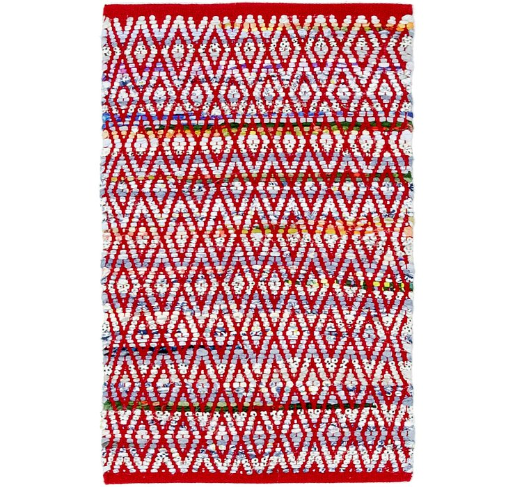 2' x 3' 4 Chindi Cotton Rug