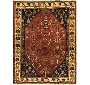 Link to 122cm x 157cm Ghashghaei Persian Rug