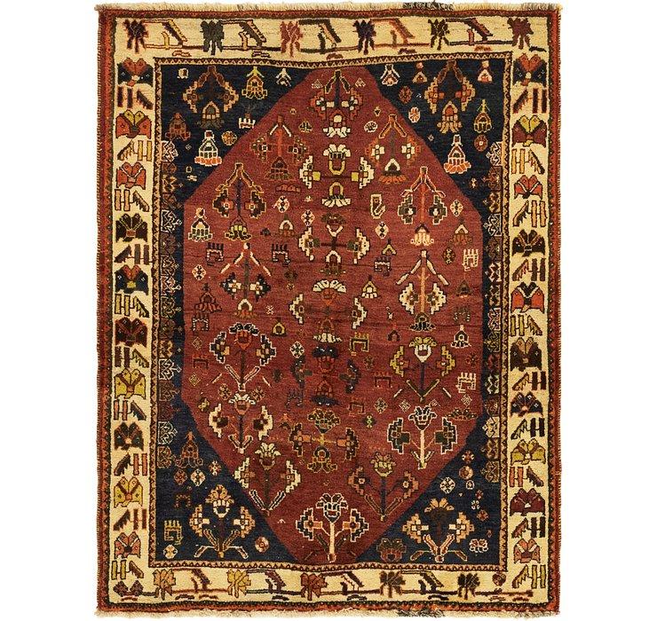 4' x 5' 2 Ghashghaei Persian Rug