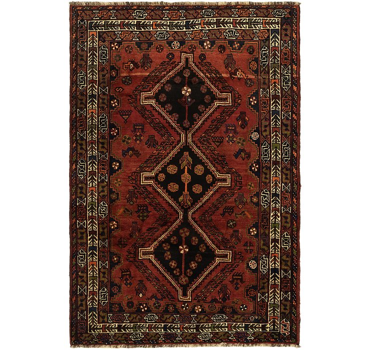 5' x 7' 8 Ghashghaei Persian Rug