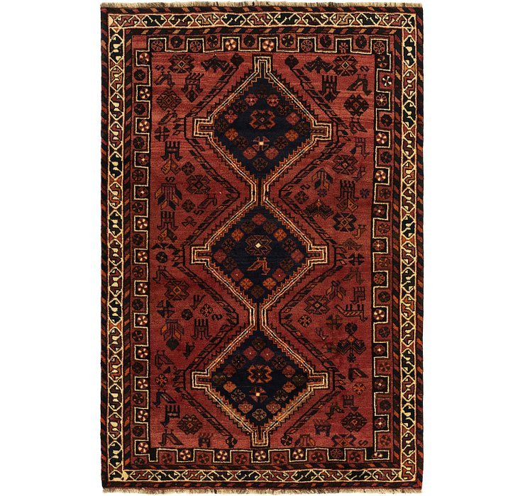 5' 3 x 8' Ghashghaei Persian Rug