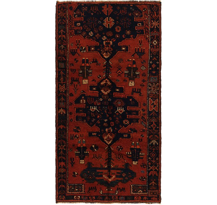 4' x 7' 10 Shiraz Persian Runner Rug
