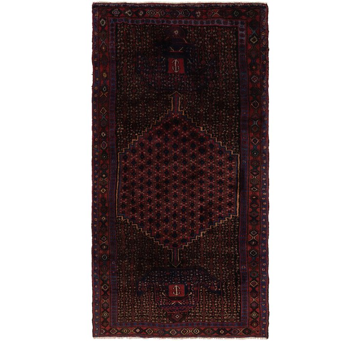 4' 3 x 8' 7 Zanjan Persian Runner Rug