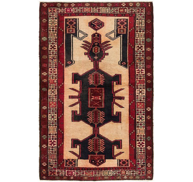 3' 8 x 5' 10 Meshkin Persian Rug