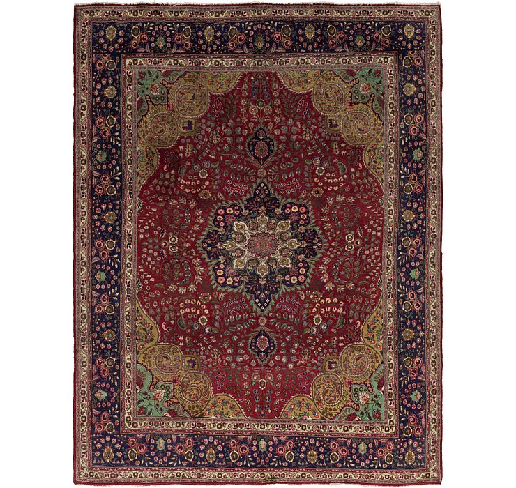 10' x 12' 9 Tabriz Persian Rug