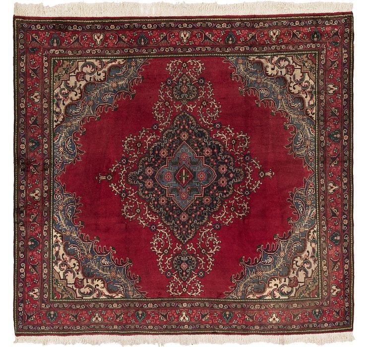 9' 4 x 9' 7 Tabriz Persian Square Rug