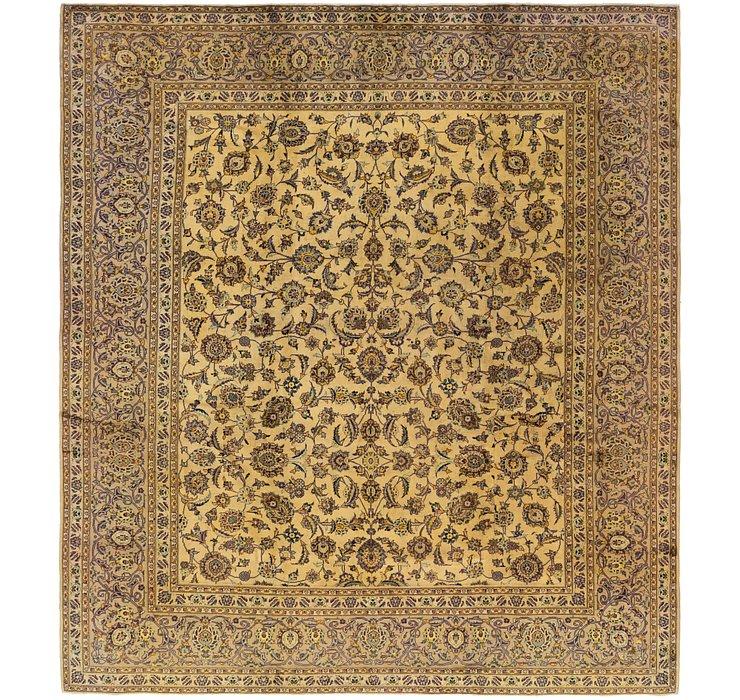 9' 9 x 10' 10 Kashan Persian Square Rug