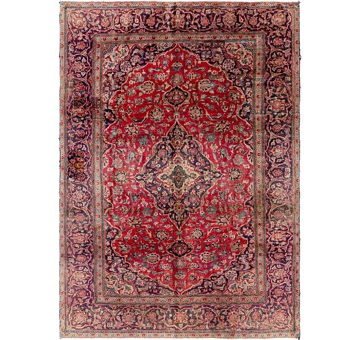 6' 7 x 9' 5 Kashan Persian Rug