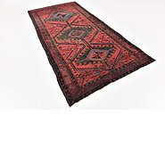 Link to HandKnotted 4' 10 x 9' 8 Zanjan Persian Runner Rug