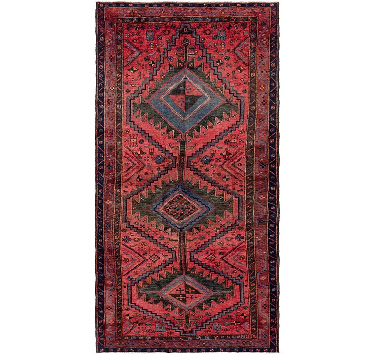 147cm x 295cm Zanjan Persian Runner Rug