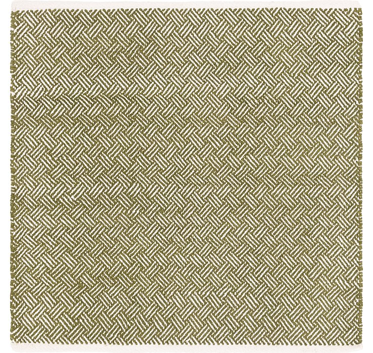 4' x 4' 2 Chindi Cotton Square Rug