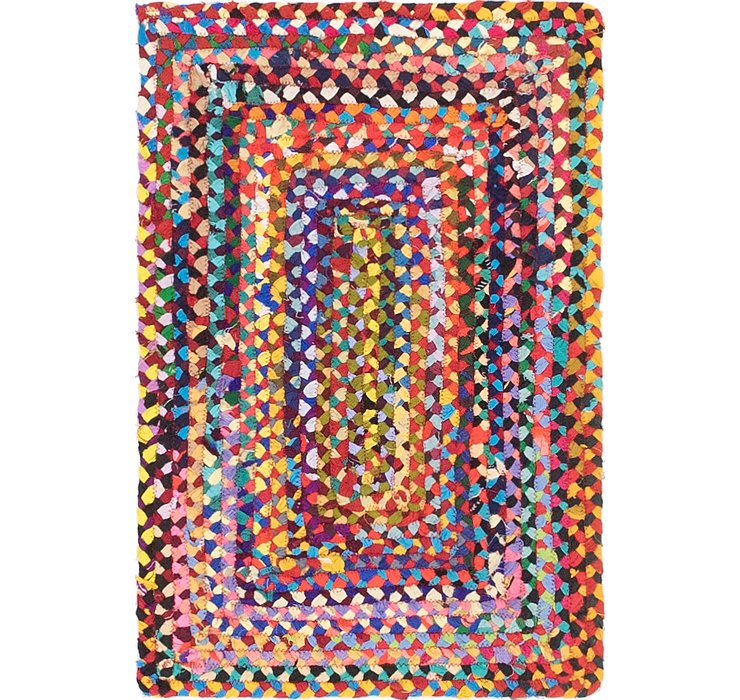 2' x 3' Braided Chindi Rug