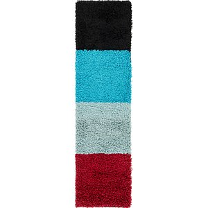 Link to 1' 8 x 6' 4 Multi-Tone Shag Runner ... item page