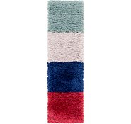 Link to 1' 10 x 6' 8 Multi-Tone Shag Runner Rug